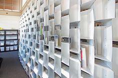 Obscura Digital HQ + BookCaseScreenWall / IwamotoScott Architecture