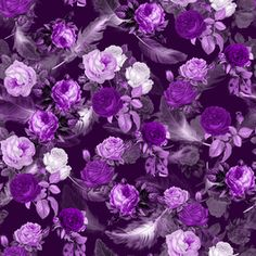 Purple Romance by mrdgk Seamless Repeat Exclusive Pattern Repeating Patterns, Print Patterns, Roses, Romance, Dark, Purple, Stuff To Buy, Design, Romances