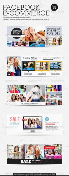 FB E-Commerce Timeline Covers - Facebook Timeline Covers Social Media