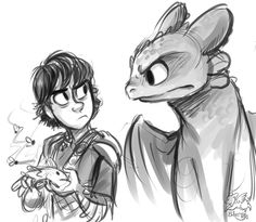 I'm getting so excited for How to Train Your Dragon 2!  Eat the Fish! by sharpie91.deviantart.com on @deviantART