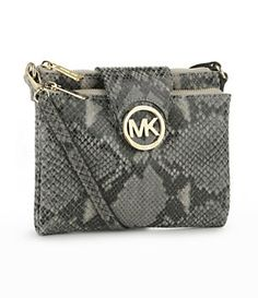 My newest obsession :) michael kors python cross body