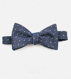 Indigo Dot Bow Tie | Get your bow-tyin' skills in shape with this dapper dotted num... | Bow Ties