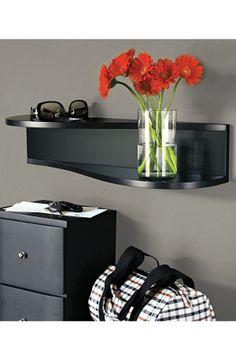 Raine Black Wall Shelf