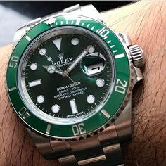 """14.9k Likes, 48 Comments - Daily Watch ⌚️ (@dailywatch) on Instagram: """"Up close with the Rolex Submariner. Also know as the Hulk ✅ Photo by @vip_watch_brasil"""""""