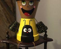 Polka Dot Flower Pot Girl / flower pot indoor / arredamento /