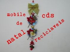 MOBILE DE NATAL COM CDS USADOS - YouTube Crafts With Cds, Wreaths, Christmas Ornaments, Holiday Decor, Youtube, Tinkerbell, Garland, Creative, Creativity