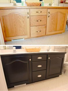 The Best DIY and Decor Place For You: Bathroom Cabinets Makeover