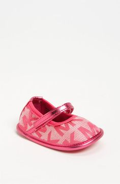 KORS Michael Kors 'Baby Monogram' Mary Jane (Baby) available at #Nordstrom