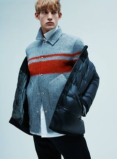 Alexander Wang Grey red coat
