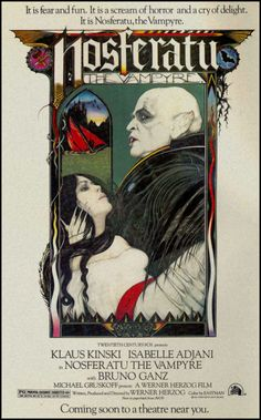A poster for Nosferatu the Vampyre directed by Werner Herzog.