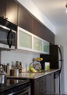#Kitchen Idea Of The Day: Modern Dark Wood Kitchens.