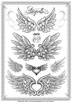 Angel Wings By Manumanutattoo Bu Image Tattooing Tattoo Designs Bild Tattoos, Neue Tattoos, Tattoo Drawings, Body Art Tattoos, Alas Tattoo, Bauch Tattoos, Tattoos Familie, Muster Tattoos, Wing Tattoo Designs