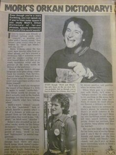Mork and Mindy Full Page Vintage Clipping
