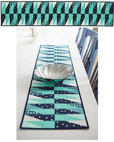 We have 11 exclusive Cotton+ Steel kits on the Keepsake Quilting website!  The Lapis AND Turquoise Table Runner Kit!