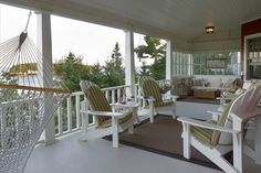 Porches and Decks   Knickerbocker Group   Boothbay, Maine  ~ love the glassed in end rather than screen!