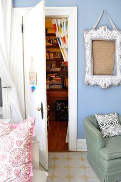 """""""door to craft room from Melissa de la Fuente"""" #furniture #painting #craftroom #inspiration"""