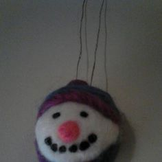 12/17/12 Snowman ornament made with needle felting. made by Jamie Malley