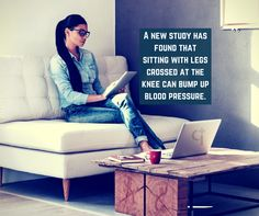 A new study has found that sitting with legs crossed at the knee can bump up blood #pressure.  Ask your #health queries @ po.st/askdoc