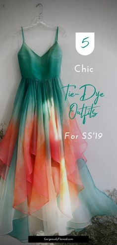 5 Chic Tie-Dye Outfits For Spring-Summer 2019 That You Can Buy Right Now All you babes who were waiting for the right time to sport the throwback trend of tie-dye, the wait is over! Check out these chic tie-dye outfits for Indian Gowns Dresses, Indian Fashion Dresses, Dress Indian Style, Indian Designer Outfits, Designer Dresses, Pakistani Clothing, Abaya Style, Indian Outfits, Tie Dye Outfits