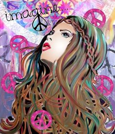 Imagine Peace... - made by Donna Pfister with Bazaart #collage
