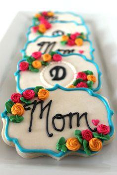 Mothers Day Decorated Sugar Cookies. Galletas Decoradas Dia de la Madre.