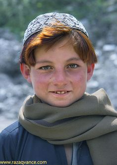 Portrait of a boy from Northern Pakistan.