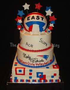 volleyball cakes | Cake for local high school girls' volleyball team banquet. Cake is ...
