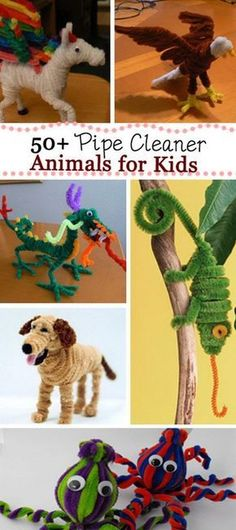 Pipe Cleaner Animals for Kids Creative Pipe Cleaner Animals for Kids! Need excellent ideas about arts and crafts? Head to this fantastic website! Pipe Cleaner Art, Pipe Cleaner Animals, Pipe Cleaner Projects, Crafts For Girls, Diy For Kids, Kids Crafts, Summer Crafts, 4 Kids, Craft Activities For Kids