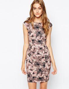 Reiss Louie Bodycon Dress in Flower Print