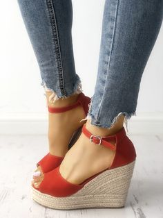 b50082346ddee Shop Ankle Strap Espadrille Wedge Sandals – Discover sexy women fashion at  IVRose