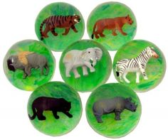 Jungle Bouncy Ball (1 Ball) at theBIGzoo.com, a family-owned toy store.