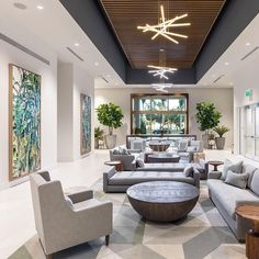 We wouldn't mind waiting in a lobby that looked like this design by Share yours with for the chance to be featured… Lobby Interior, Home Interior Design, Interior And Exterior, Lounge Design, Design Hotel, Design Design, Design Ideas, Commercial Design, Commercial Interiors