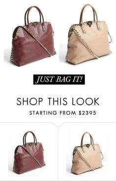"""""""Valentino Rockstud"""" by bluefly ❤ liked on Polyvore featuring Valentino"""