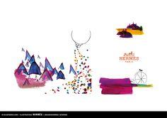 Introducing Julia Perrin/ illustrator : #juliaperrin #illustrator #erichennebertagency #beautyartist #hermes
