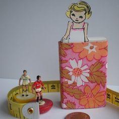 Custom Tiny Paper Doll in her travel Matchbox Room £9.00