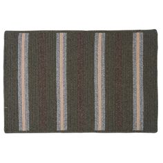 Colonial Mills Hunter Stripe Braided Reversible Rug, Green