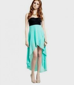 My Michelle Juniors Strapless High-Low Dress with Detailed Waist ...