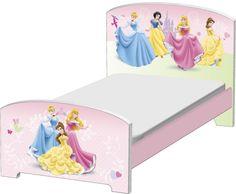 Met het houten Disney prinses peuter-Bed zal uw kleine Princess er naar uitkijken om te gaan slapen.Met de zachte pastelkleuren en een dromerig prinses thema, is dit bed net wat je kleintje nodig heeft om haar schoonheid slaapje te krijgen.Het peuter-be -