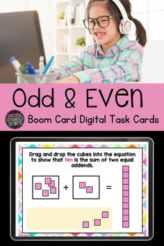 Need digital practice for students working with odd and even numbers? Try this self-checking Boom Card digital task card deck! Perfect for 2nd grade math centers, online practice, homework, and more! Teaching Second Grade, Second Grade Teacher, 2nd Grade Classroom, Third Grade Math, Common Core Ela, Common Core Standards, Card Deck, Deck Of Cards, Teaching Phonics