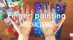 Finger Painting • Art Challenge [acrylic speedpaint]