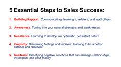 Essential Steps to Sales Success thru Emotional Intelligence
