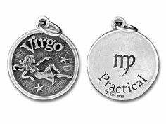 Sterling Silver Virgo-Practical Charm