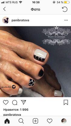 Nail art Christmas - the festive spirit on the nails. Over 70 creative ideas and tutorials - My Nails Toe Nail Color, Toe Nail Art, Nail Colors, Shellac Nails, My Nails, Nail Polish, Cute Pedicure Designs, Leopard Nails, Pedicure Nail Art