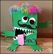 Monster Valentine Box Craft from www.daniellesplace.com