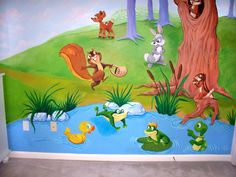 Pond mural | Visit our testimonial page to see the kind letter written to us by our ...