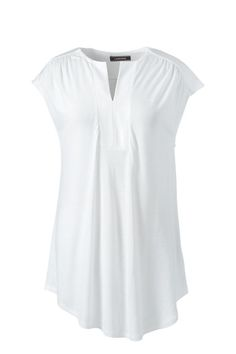 8acd9ae783a3 Women s Shirred Neck Tunic Top. Evening TopsLands EndWhite ...