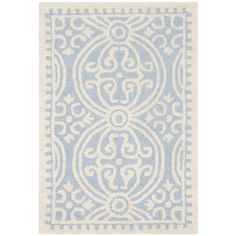 Gefunden bei Wayfair.de - Handgetufteter Teppich Palmer in Hellblau/Elfenbein