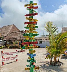 Beach at Holbox Island Mexico