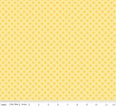 Small Dots Tone on Tone Yellow - 1 Yard Cut - Riley Blake Designs - Cotton Fabric - Dots Fabric