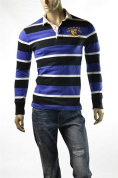 Polo Ralph Lauren Mens Long Sleeve 2 Pockets Casual Shirt Blue ...